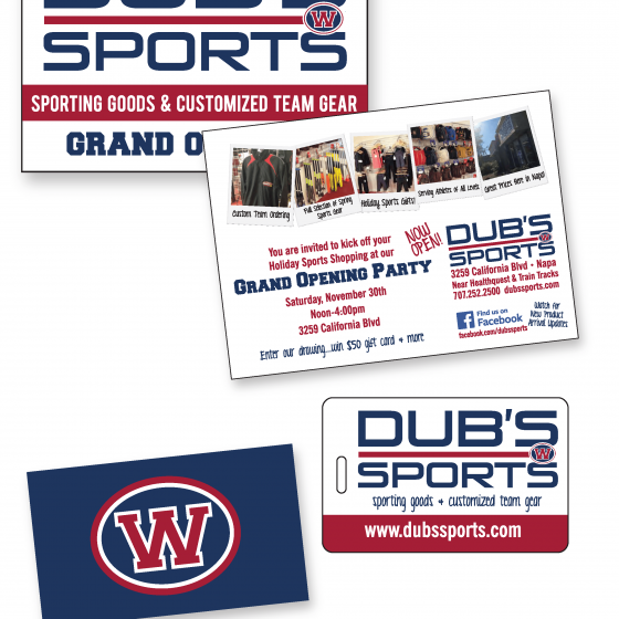 Dub's Sports Logo & Marketing