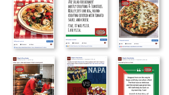 Filippi's Pizza Grotto Social Media